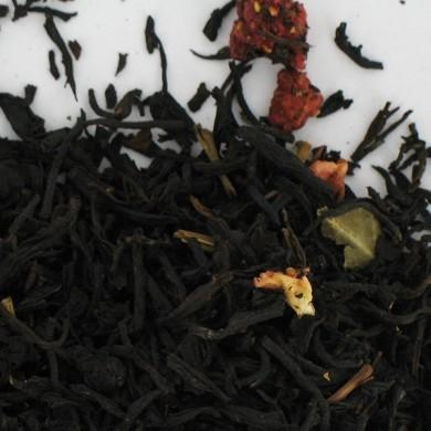 Thé noir de Chine fraise