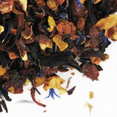 infusion de fruits bio écorces de cynorhodon pomme hibiscus orange papaye bleuets