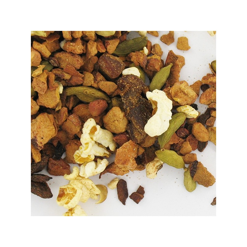 infusion de fruits bio hibiscus pop corn pomme datte cannelle cardamome anis