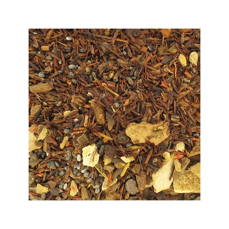 rooibos chaî cannelle cacao chia gingembre écorces d'orange carthame BIO