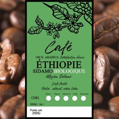 Café Sidamo BIO, grain