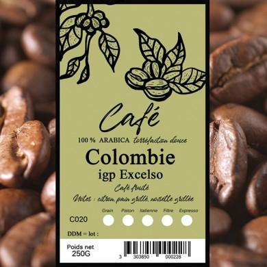 Café Colombie excelso, grain