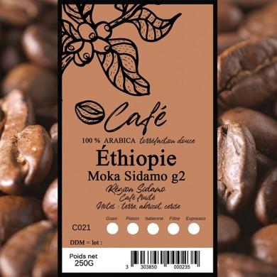 Café Ethiopie  sidamo grain
