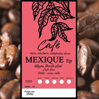 Café Mexique altura, grain