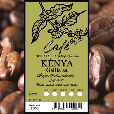Café Kenya, grain