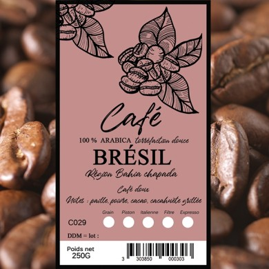 Café Brésil bahia en grain