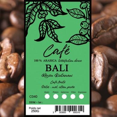 café en grain, café bali 250g