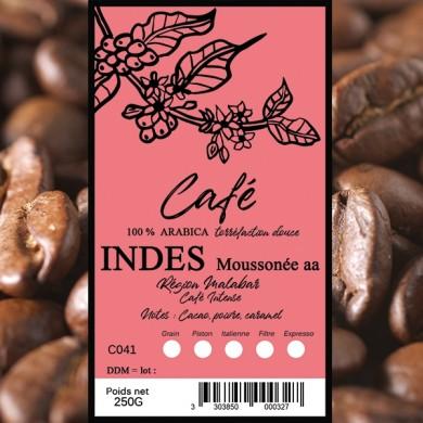 café grain, café indes malabar 250g