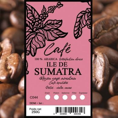 café en grain, café sumatra 250g