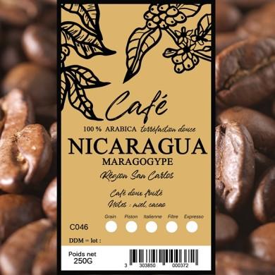 Café  maragogype Nicaragua, grain