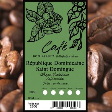 Café St Domingue verde, grain