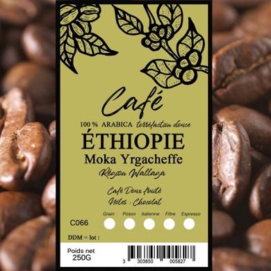 Café  Moka Yirgacheffe, grain