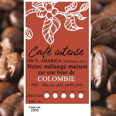 mélange café intense Colombie grain