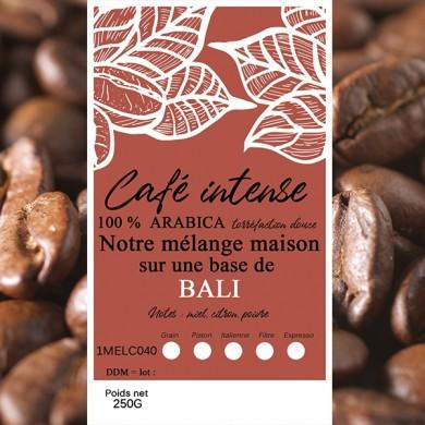 mélange café intense café bali grain