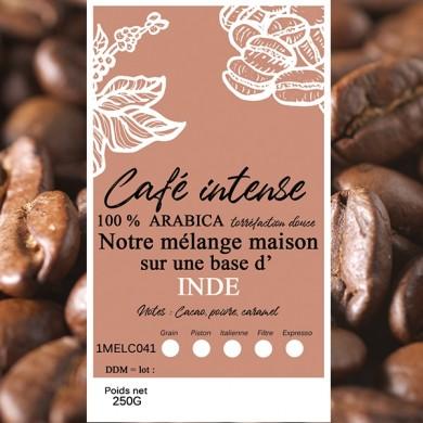 mélange café intense indes malabar grain