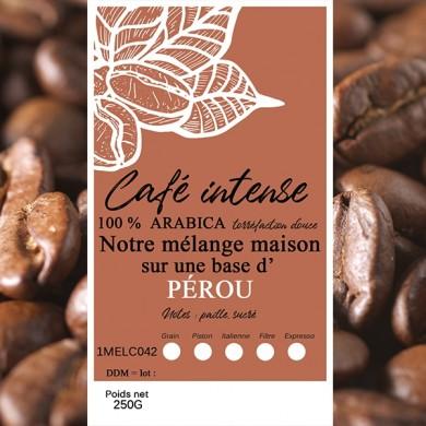 mélange café intense pérou grain