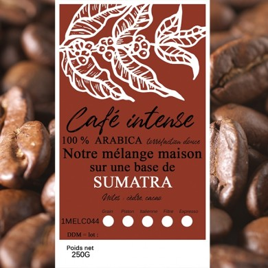 mélange café intense sumatra grain