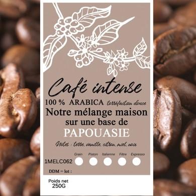 mélange café intense papouasie en grain
