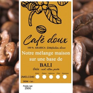 Mélange café délicat café bali