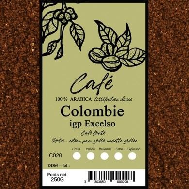 Café Colombie excelso, moulu