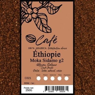 Café Ethiopie sidamo moulu