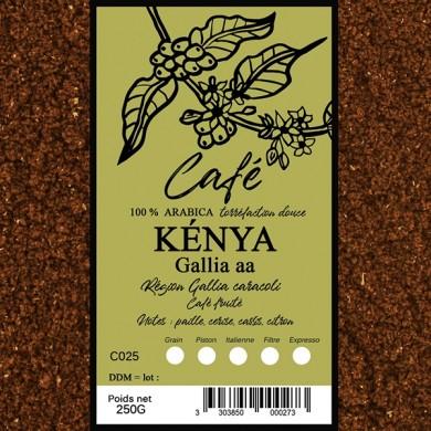 Café Kenya, moulu