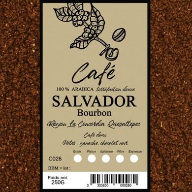 Café Salvador pacarama, moulu