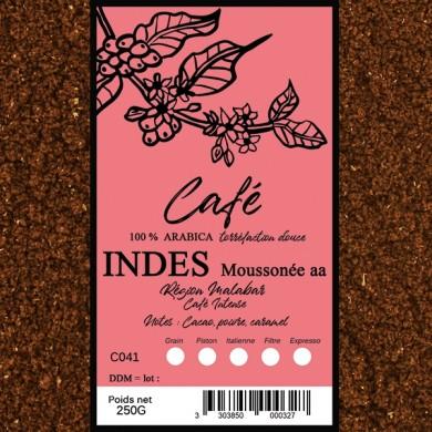Malabar coffee ground Indies