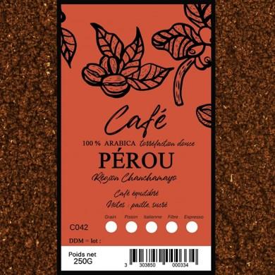 Café Pérou la Montana, moulu