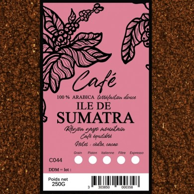 café moulu, café sumatra