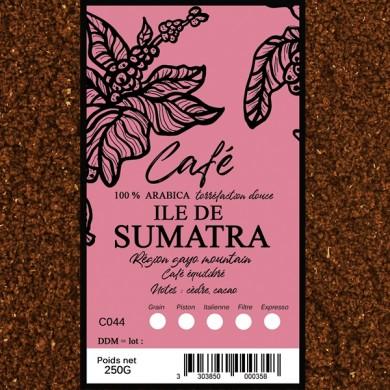 Sumatra coffee ground