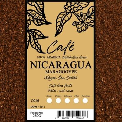 Café  maragogype nicaragua, moulu