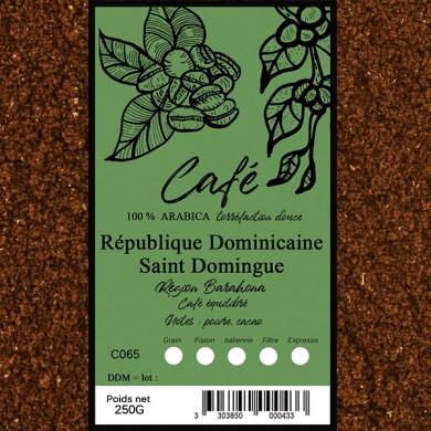 Café St Domingue verde, moulu