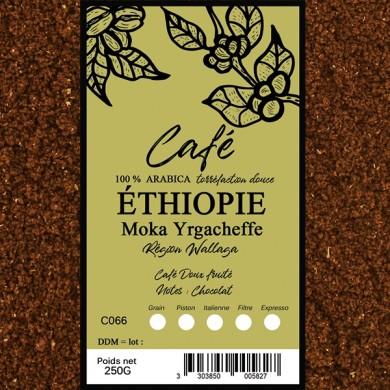Café  Moka yirgacheffe, moulu