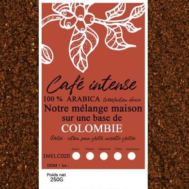 mélange café intense de colombie moulu