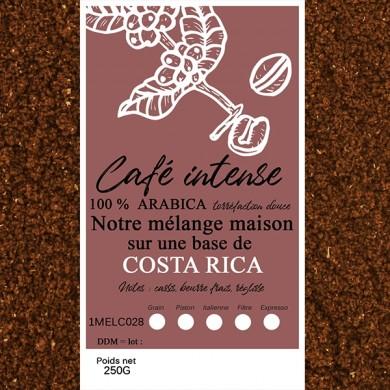 mélange café intense costa rica moulu