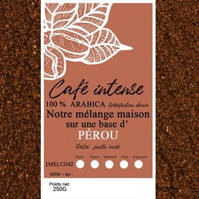 mélange café intense pérou moulu