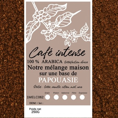 blend café fin, papouasie + café fin