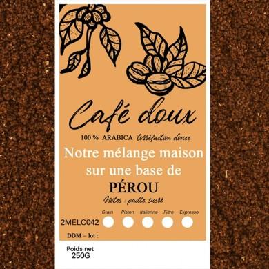 mélange café délicat pérou moulu