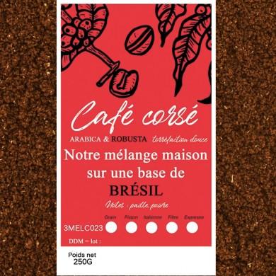 mélange café corsé brésil + robusta