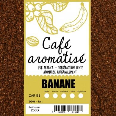 Café  banane  moulu