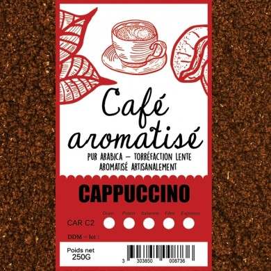 Café cappuccino moulu