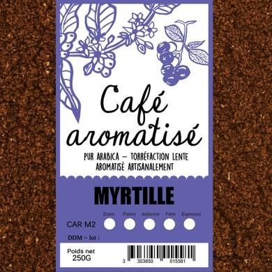 Café moulu myrtille