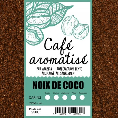 Café Noix de coco grillée moulu