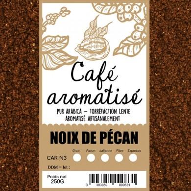 Café aromatisé noix de pécan moulu