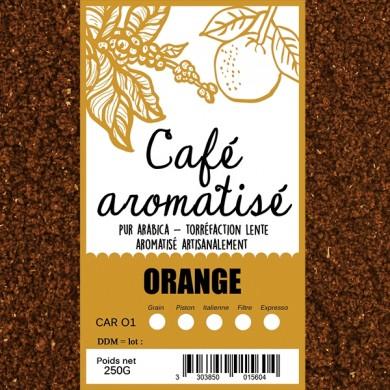 Café moulu orange