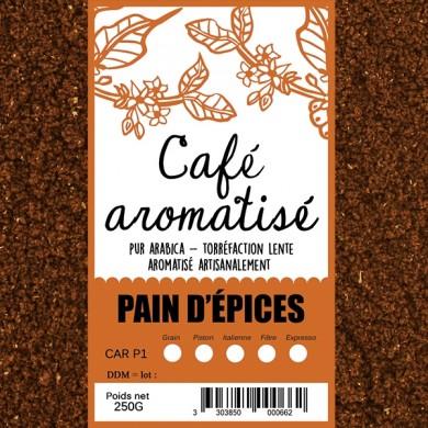 café aromatisé pain d'épices moulu