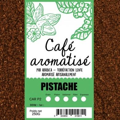 Café moulu pistache