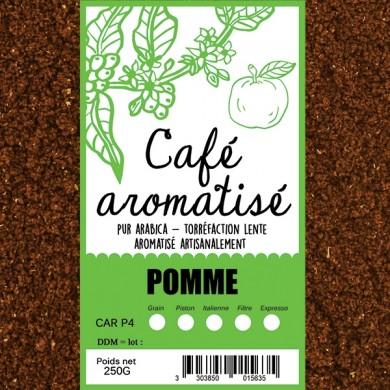 Café moulu pomme