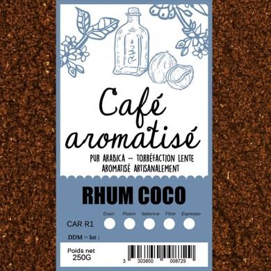 Café rhum coco moulu
